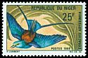 Cl: Abyssinian Roller (Coracias abyssinica) SG 296 (1969) 45