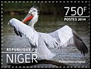 Cl: Dalmatian Pelican (Pelecanus crispus)(Out of range) (I do not have this stamp) (not catalogued)  (2014)
