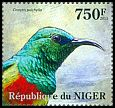Cl: Beautiful Sunbird (Cinnyris pulchella)(I do not have this stamp) (not catalogued)  (2013)