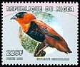 Cl: Orange Bishop (Euplectes franciscanus) <<Euplecte ignicolore>> (Repeat for this country) (not catalogued)  (2000)