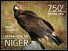 Cl: Golden Eagle (Aquila chrysaetos)(Out of range) (I do not have this stamp) (not catalogued)  (2014)