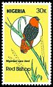 Cl: Orange Bishop (Euplectes franciscanus) SG 486 (1984) 125