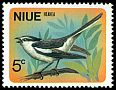 Cl: Pied Triller (Lalage nigra) <<Heahea>> (Out of range and no other stamp)  SG 158 (1971) 15