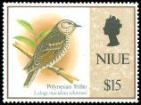 Cl: Polynesian Triller (Lalage maculosa whitmeei)(I do not have this stamp)  SG 729 (1993) 1100 [7/7]