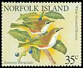 Cl: White-chested White-eye (Zosterops albogularis)(Endemic or near-endemic)  SG 269 (1981) 225