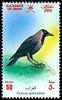 Cl: House Crow (Corvus splendens) SG 590 (2002)