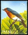 Cl: Palau Flycatcher (Myiagra erythrops)(Endemic or near-endemic)  SG 305 (1989)