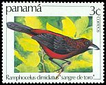 Cl: Crimson-backed Tanager (Ramphocelus dimidiatus)(Repeat for this country)  SG 1288 (1981)