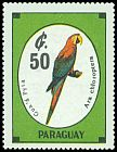 Cl: Red-and-green Macaw (Ara chloroptera) <<Gua '&aacute; Pyta>>  SG 1281 (1989) 0