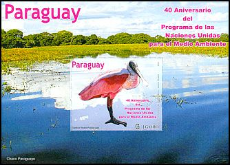 Cl: Roseate Spoonbill (Platalea ajaja) <<Esp&aacute;tula Rosada>> (I do not have this stamp)  new (2012)  [8/14]