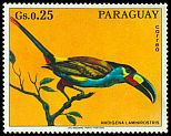Cl: Plate-billed Mountain-Toucan (Andigena laminirostris)(Out of range and no other stamp) (not catalogued)  (1973)