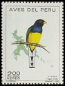 Cl: White-tailed Trogon (Trogon viridis) <<Viuda>>  SG 1131 (1972) 25 [2/32] I have 1 spare [2/16]