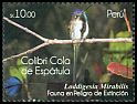 Cl: Marvelous Spatuletail (Loddigesia mirabilis) <<Colibri Cola de Espatula>>  new (2011)  [7/31]