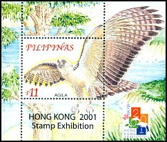 Cl: Great Philippine Eagle (Pithecophaga jefferyi)(Endemic or near-endemic)  SG 3403a (2001)