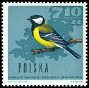 Cl: Great Tit (Parus major) <<bogatka>>  SG 1705 (1966) 85