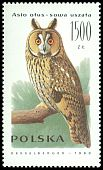 Cl: Northern Long-eared Owl (Asio otus) <<sowa uszatka>>  SG 3324 (1990) 110