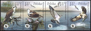 Cl: Osprey (Pandion haliaetus)(Repeat for this country)  SG 4096-9 (2003)  [2/11]
