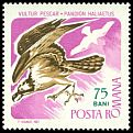 Cl: Osprey (Pandion haliaetus) <<Vultur pescar>>  SG 3446 (1967) 125