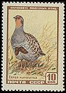 Cl: Grey Partridge (Perdix perdix) SG 2057a (1957) 25