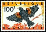 Cl: Fan-tailed Widowbird (Euplectes axillaris) <<Veuve a epaulettes rouge>>  SG 248 (1967) 250