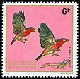 Cl: Red-billed Firefinch (Lagonosticta senegala) <<Senegali rouge>>  SG 474 (1972) 12