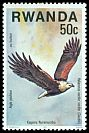 Cl: African Fish-Eagle (Haliaeetus vocifer) <<Aigle pecheur>>  SG 835 (1977) 8