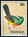 Cl: Regal Sunbird (Cinnyris regius)(Repeat for this country)  SG 957 (1980)