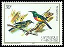 Cl: Regal Sunbird (Cinnyris regius kivuensis)(Repeat for this country)  SG 1142 (1982)