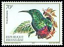 Cl: Red-chested Sunbird (Cinnyris erythrocerca) SG 1150 (1982) 125
