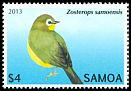 Cl: Samoan White-eye (Zosterops samoensis)(Endemic or near-endemic)  SG 1250 (2013)