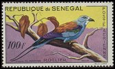 Cl: Abyssinian Roller (Coracias abyssinica) <<Rollier>>  SG 235 (1960) 100