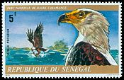 Cl: African Fish-Eagle (Haliaeetus vocifer) <<Aigle pecheur>> (Repeat for this country)  SG 587 (1976) 160