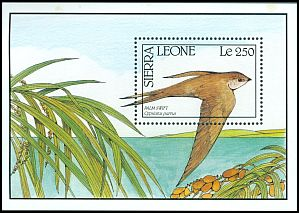 Cl: African Palm-Swift (Cypsiurus parvus) SG 1483a (1990) 0