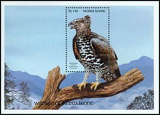 Cl: Crowned Hawk-Eagle (Stephanoaetus coronatus) SG 1515 (1990) 225