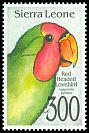Cl: Red-headed Lovebird (Agapornis pullarius) SG 1835 (1992)