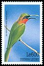 Cl: Red-throated Bee-eater (Merops bulocki) SG 3080 (1999)