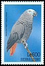 Cl: Grey Parrot (Psittacus erithacus)(Repeat for this country)  SG 3088 (1999)