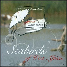 Cl: Sacred Ibis (Threskiornis aethiopicus)(Repeat for this country)  SG 4790 (2011)