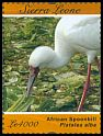 Cl: African Spoonbill (Platalea alba)(Repeat for this country) (I do not have this stamp)  SG 4789d (2011)