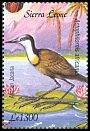 Cl: African Jacana (Actophilornis africanus)(Repeat for this country)  SG 4100e (2003)