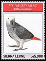 Cl: Grey Parrot (Psittacus erithacus)(Repeat for this country) (I do not have this stamp)  new (2014)