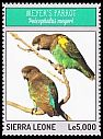 Cl: Meyer's Parrot (Poicephalus meyeri)(Out of range) (I do not have this stamp)  new (2014)