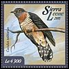 Cl: Red-chested Cuckoo (Cuculus solitarius)(I do not have this stamp)  new (2015)