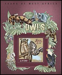 Cl: Akun Eagle-Owl (Bubo leucostictus)(I do not have this stamp)  new (2015)