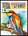 Cl: European Bee-eater (Merops apiaster)(Repeat for this country) (I do not have this stamp)  new (2015)