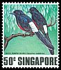 Cl: White-rumped Shama (Copsychus malabaricus)(Repeat for this country)  SG 324 (1978)
