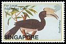 Cl: Oriental Pied-Hornbill (Anthracoceros albirostris)(Repeat for this country)  SG 1190 (2002)