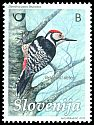 Cl: White-backed Woodpecker (Dendrocopos leucotos) <<Belohrbti detel>>  SG 954 (2011)