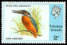 Cl: Common Kingfisher (Alcedo atthis salomonensis) SG 306 (1976) 100