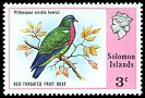 Cl: Claret-breasted Fruit-Dove (Ptilinopus viridis lewisii) SG 307 (1976) 85